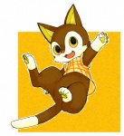ambiguous_gender animal_crossing anthro bottomless cat clothing cub feline looking_at_viewer nintendo open_mouth rudy shirt solo video_games young zashiki_inu   Rating: Safe  Score: 5  User: Untamed  Date: July 15, 2013