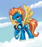 2013 amber_eyes blue_clothing clothed clothing cloud cloudscape equine eyewear feathered_wings feathers female feral flight_suit friendship_is_magic fur goggles hair karol_pawlinski looking_at_viewer mammal my_little_pony open_mouth orange_hair outside pegasus skinsuit sky solo spitfire_(mlp) suit tight_clothing wings wonderbolts_(mlp) yellow_feathers yellow_fur  Rating: Safe Score: 11 User: Granberia Date: July 24, 2013