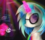 2015 abstract_background animated chanceyb equine equum_amici eyewear female feral friendship_is_magic fur glasses glowstick hair horn magic mammal multicolored_hair my_little_pony solo two_tone_hair unicorn vinyl_record vinyl_scratch_(mlp) white_fur  Rating: Safe Score: 4 User: ConsciousDonkey Date: February 04, 2016