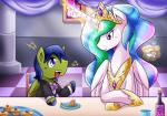 2015 bottle crown cupcake duo equine fan_character female feral food friendship_is_magic hi_res horn magic male mammal my_little_pony pegasus princess_celestia_(mlp) sitting suit vavacung winged_unicorn wings   Rating: Safe  Score: 7  User: Robinebra  Date: May 08, 2015