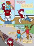 age_regression anthro canine clothing comic cub digital_media_(artwork) dog english_text feline hair hi_res husky kammypup kammypup_(artist) kangaroo lion mammal marsupial red_hair speech_bubble text young  Rating: Safe Score: -1 User: someWolfHere Date: May 01, 2016