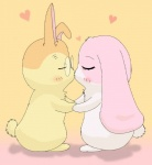 <3 anthro blush couple cute duo eyelashes eyes_closed eyewear female fur glasses hand_holding happy_happy_clover haru japanese kissing lago lagomorph long_ears lop_eared_bunny lop_eared_rabbitsayuri_tatsuyama male mallow mammal meru orange_fur pink_fur rabbit shallot short_fur standing yellow_fur   Rating: Safe  Score: 1  User: CloverTheRabbit  Date: February 07, 2015