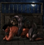 2013 3d_(artwork) all_fours anal anal_penetration anthro big_muscles black_howler canine cgi digital_media_(artwork) doggystyle duo erection eyes_closed from_behind_position handjob hi_res human human_on_anthro humanoid_penis interspecies male male/male mammal muscular muscular_male night nude outside penetration penis reach_around sex sky star starry_sky were werewolf  Rating: Explicit Score: 33 User: furmann Date: July 04, 2013