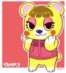 animal_crossing bear blush female nintendo tammy_(animal_crossing) video_games   Rating: Safe  Score: 2  User: Juni221  Date: February 28, 2014