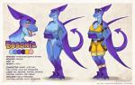 blue_skin breasts claws clothed clothing dinosaur ear_buds essonia eyewear female forked_tongue glasses model_sheet nude open_mouth rotarr scalie skimpy solo tongue wings   Rating: Explicit  Score: 7  User: CyricV  Date: April 07, 2014
