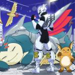 absurd_res electricity flying hi_res human mammal my_hero_academia nintendo pidgeot pokéball pokémon raichu skarmory sleeping snorlax tenya_iida video_games zeaw90