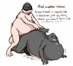 all_fours campy canine cum_inflation doggystyle english_text from_behind furthia_high gay hyper inflation joel lagomorph male mammal morbidly_obese obese overweight penis rabbit saphiros sex text time_travel what wolf   Rating: Explicit  Score: -1  User: Precupice  Date: February 26, 2014