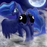anus blue_eyes blue_fur butt cloud cutie_mark equine female feral fog friendship_is_magic fur hi_res horn lightningdasher looking_at_viewer looking_back mammal moon my_little_pony night princess princess_luna_(mlp) pussy pussy_juice rear_view royalty sky solo star starry_sky winged_unicorn wings  Rating: Explicit Score: 22 User: LightningDasher Date: October 11, 2015