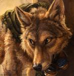 2015 brown_eyes brown_fur canine eyewear fur goggles headshot_portrait kenket male mammal painting portrait shaded smile solo steampunk wolf   Rating: Safe  Score: 12  User: TheGreatWolfgang  Date: February 03, 2015
