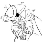 2017 <3 ambiguous_gender biped black_and_white black_sclera carrying claws clothed clothing cyrus_(pokemon) digital_drawing_(artwork) digital_media_(artwork) dragon duo embrace feral frown giratina half-closed_eyes hug human in_love legendary_pokémon looking_at_another looking_away looking_down macro male mammal monochrome nintendo nude pokémon pokémon_(species) simple_background sourcandy spikes sweat sweatdrop team_galactic toe_claws video_games white_backgroundRating: SafeScore: 3User: DiceLovesBeingBlownDate: February 22, 2018