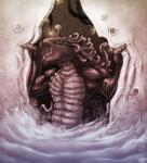 2013 alien anthro black_scales black_sclera claws gigante_(species) kalnareff male multiple_eyes nude open_mouth purple_eyes purple_scales solo tentacles tongue traditional_media_(artwork) water wet white_scales yugas  Rating: Safe Score: 2 User: GameManiac Date: June 21, 2015