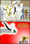 ... 2015 absurd_res arceus black_wings blue_body comic d: dialga digital_media_(artwork) english_text feral giratina green_sclera grey_body hair head_turn hi_res humor legendary_pokémon looking_down mammal museum nintendo o_o onomatopoeia open_mouth palkia pokémon post_transformation red_eyes red_iris shocked sound_effects text tfsubmissions video_games white_skin wings yelling
