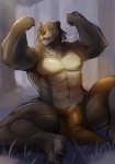 abs biceps big_muscles clothed clothing flexing fur half-dressed loincloth male mammal muscles nipples ocaritna open_mouth pecs sitting smile solo spread_legs spreading toned topless yellow_eyes   Rating: Questionable  Score: 6  User: Vallizo  Date: April 12, 2015