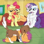 age_difference apple_bloom_(mlp) applejack_(mlp) ball_gag bdsm bondage bound canine collar cub dog equine female feral feral_on_feral friendship_is_magic gag group horn horse incest interspecies kissing mammal my_little_pony pony rarity_(mlp) saliva scootaloo_(mlp) smudge_proof sweetie_belle_(mlp) unicorn winona_(mlp) young   Rating: Explicit  Score: 8  User: Smudge_Proof  Date: May 19, 2014