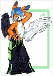 <3 anthro clothed clothing half-dressed lagomorph looking_at_viewer male mammal rabbit roum_(character) solo star topless tripps wings zeriara  Rating: Safe Score: 4 User: cookiekangaroo Date: January 27, 2012