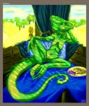 anthro breasts chameleon claws female food fruit grapes kompy lizard lizard_queen nude old pussy reptile scalie solo   Rating: Explicit  Score: 7  User: chdgs  Date: May 05, 2015