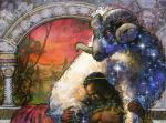 ambiguous_gender art_nouveau caprine duo feral horn human lying magic_the_gathering male mammal official_art ram sheep signature star terese_nielsen traditional_media_(artwork)   Rating: Safe  Score: 2  User: Circeus  Date: December 23, 2014
