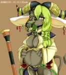 anthro blush breasts camel_toe caprine female goat green_hair hair kemono long_hair mammal nipples pregnant solo unknown_artist yellow_eyes   Rating: Questionable  Score: 4  User: KemonoLover96  Date: April 05, 2015
