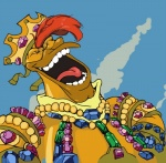 """avian bird crown darkwing_duck duck ducktales eyes_closed jewelry launchpad_mcquack male parody reaction_image solo the_simpsons tongue  Rating: Safe Score: -4 User: Juni221 Date: March 21, 2015"""""""
