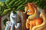 anadukune applejack_(mlp) blonde_hair blush cutie_mark duo equine eye_contact female feral flower friendship_is_magic fur hair hat horse male male/female mammal my_little_pony orange_fur pegasus plant pony smile stetson tree wings   Rating: Safe  Score: 5  User: Sods  Date: January 20, 2015
