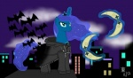 2012 bat blue_eyes blue_fur blue_hair city cloud coat equine female friendship_is_magic fur hair horn horse jazzytyfighter kingdom_hearts mammal moonmerangs my_little_pony night pony princess_luna_(mlp) solo weapon winged_unicorn wings  Rating: Safe Score: 2 User: EurynomeEclipseVII Date: October 14, 2015