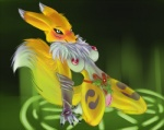 anthro blue_eyes blush breasts canine digimon female fox fur holly_(plant) kneeling leaning leaning_back mammal nipples plant pussy renamon s-nina smile solo white_fur yellow_fur   Rating: Explicit  Score: 11  User: renamonlover44  Date: April 20, 2012