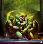 anthro balls biceps brown_fur donatello_(tmnt) eyes_closed father father_and_son fur green_eyes green_skin group holding interspecies kissing leonardo_(tmnt) male male/male mammal michelangelo_(tmnt) muscles mutant nude open_mouth parent pink_eyes raphael_(tmnt) rat reiser reptile rodent scales scalie semi_incest sheath shower son splinter standing teenage_mutant_ninja_turtles teeth tongue turtle water wet white_fur  Rating: Explicit Score: 6 User: Pokelova Date: June 01, 2015""