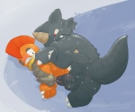 anal anal_penetration argon_vile balls black_eyes blush erection gay lying male nintendo on_side one_eye_closed penetration penis pokémon precum red_eyes rhydon scrafty sex size_difference video_games   Rating: Explicit  Score: 5  User: slyroon  Date: August 23, 2013