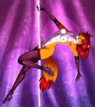 blue_eyes breasts canine chloe-dog dancing female fox fur hair looking_at_viewer mammal nipples pole pole_dancing smile solo  Rating: Questionable Score: 20 User: snowblind Date: November 26, 2015