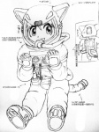 armor astronaut boots cat_costume clothing costume cute female footwear gloves hair helmet human japanese_text looking_at_viewer mammal simple_background sketch smile solo space spacesuit text unknown_artist white_background  Rating: Safe Score: 0 User: Torgaddon Date: February 19, 2013