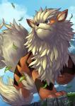 arcanine canine fangs leaves mammal nintendo pokémon tessy video_games