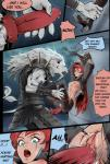 anthro big_dom_small_sub breasts clothing comic dialogue duo erection feline female forced fur hair human katarina league_of_legends lion male male/female mammal nipples optionaltypo penetration penis pussy pussy_juice rape red_hair rengar sex size_difference sword text vaginal vaginal_penetration video_games weapon white_lion   Rating: Explicit  Score: 15  User: Pasiphaë  Date: February 05, 2015