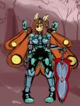 2017 anthro armor arthropod biped breasts brown_hair clothed clothing detailed_background digital_media_(artwork) digital_painting_(artwork) dirtyscoundrel fantasy female front_view hair insect markings melee_weapon moth orange_wings outside pose signature solo standing sword tree weapon windmill wings yellow_eyes yellow_markingsRating: SafeScore: 1User: TheVileOneDate: April 10, 2018