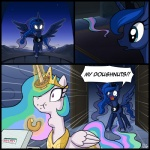 2014 blue_eyes box comic crown donuts doughnut eating equine female flying food friendship_is_magic glowing glowing_eyes gold hair horse levitation magic mammal moon multicolored_hair my_little_pony necklace night outside pony princess_celestia_(mlp) princess_luna_(mlp) purple_eyes sibling sisters sky uotapo upset white_eyes   Rating: Safe  Score: 16  User: 2DUK  Date: March 15, 2014