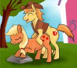 animated applejack_(mlp) braeburn_(mlp) duo earth_pony equine female feral feral_on_feral friendship_is_magic happy happy_sex horse incest male male/female mammal my_little_pony penetration penis pony sex tungsten_booger   Rating: Explicit  Score: 8  User: Tungsten_Booger  Date: March 30, 2015