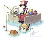 cave_story chinfish curly_brace fish fishing hat kanpachi lagomorph mammal marine mimiga oh8 quote_(cave_story) video_games   Rating: Safe  Score: 11  User: ktkr  Date: January 22, 2014