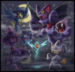 2009 ambiguous_gender banette body_zipper feathered_wings feathers gastly ghost gliscor group keshi membranous_wings misdreavus mismagius moon mouth_zipper murkrow nintendo normal_rotom open_mouth pokémon pokémon_(species) red_eyes rotom spirit star teeth tongue undead unknown_artist video_games wings yellow_eyes zipperRating: SafeScore: 8User: RiversydeDate: July 23, 2010