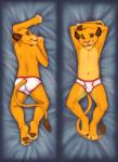 anthro briefs bulge clothed clothing cobaltsynapse cub dakimakura_design disney feet feline furgonomics hi_res hindpaw lion looking_at_viewer looking_back lying male mammal navel on_back on_front pawpads paws simba smile tail_clothing tail_tuft the_lion_king topless tuft underwear whiskers white_clothing white_underwear youngRating: QuestionableScore: 19User: e621NetUserDate: September 23, 2017