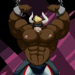 abs animated anthro bdsm biceps big_muscles blonde_hair bondage bound bovine cattle chain clothed clothing hair horn hyper hyper_muscles lactating male male_lactation mammal mask milk muscledrakita muscular nipples pecs simple_background topless  Rating: Questionable Score: -2 User: Sideburns-McGee Date: February 15, 2016