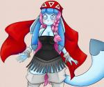 2013 anthro anthrofied basketgardevoir big_breasts blue_eyes blush breasts canine cleavage clothed clothing eeveelution female glaceon hair long_hair mammal ming-ming_(character) nintendo pink_hair pokémon pokémorph shiny_pokémon simple_background smile solo standing thick_thighs video_games  Rating: Safe Score: 10 User: Gigatongatlingman Date: August 08, 2015