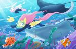 2015 ambiguous_gender anemone angel_(mlp) blue_eyes bubble clown_fish coral_reef cute detailed_background equestria-prevails equine eyes_closed female feral fish fluttershy_(mlp) friendship_is_magic fur green_eyes group hair happy hi_res lagomorph light male mammal mane manta_ray marine my_little_pony pegasus pink_hair plant rabbit scuba seascape seaweed shark sharp_teeth teeth underwater water white_fur wings yellow_fur   Rating: Safe  Score: 9  User: Just_Another_Dragon  Date: March 23, 2015