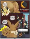 animal_genitalia animal_pussy anus butt canine_pussy comic eevee eeveelution female feral imminent_rape in_heat jolteon male nintendo pocket_monsters pokémon pussy umbreon video_games xxgato