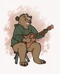 2015 ambiguous_gender bear bottomless clothed clothing eyes_closed guitar half-dressed mammal musical_instrument sepia_(artist) solo stool  Rating: Safe Score: 1 User: TonyLemur Date: October 09, 2015