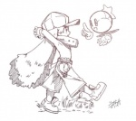 anthro clothed clothing collar cute digital_drawing_(artwork) digital_media_(artwork) duo floating huepow klonoa klonoa_(series) male midair ring shaolin_bones side_view smile topless waddling_head walking  Rating: Safe Score: 3 User: Lionxie Date: February 05, 2016