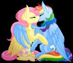 blue_feathers cutie_mark duo equine feathered_wings feathers female feral fluttershy_(mlp) friendship_is_magic grimdark-graveyard_(artist) hair kissing long_hair mammal multicolored_hair my_little_pony pegasus pink_hair rainbow_dash_(mlp) rainbow_hair wings yellow_feathersRating: SafeScore: 0User: Nicklo6649Date: April 23, 2018