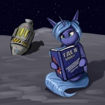 2015 blue_fur book confusion digital_media_(artwork) equine f13proxima female feral friendship_is_magic fur hair horn long_hair mammal my_little_pony outside princess_luna_(mlp) reading russian_text sitting sky solo space spacecraft star starry_sky text translated vehicle winged_unicorn wings  Rating: Safe Score: 14 User: Somepony Date: October 19, 2015