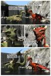 3d_(artwork) bridge cgi claws comic dialogue digital_media_(artwork) dragon duo english_text erection feral green_body green_eyes hi_res horn male male/male penis red_body scales scalie slit_pupils spikes text tongue tree water western_dragon wings wooky yellow_eyes  Rating: Explicit Score: 8 User: syrmat Date: October 30, 2015