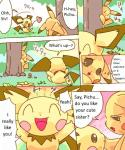brother_and_sister comic cute dayan duo english_text female feral forest incest kemono male nintendo outside pichu pikachu playful pokémon sibling size_difference speech_bubble text translated tree video_games   Rating: Safe  Score: 5  User: KemonoLover96  Date: February 03, 2015
