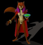 3d_(artwork) anthro bowl breasts cape cat clothing digital_media_(artwork) feline female jewelry katrina looking_at_viewer mammal nipples nude pose pussy solo unknown_artist  Rating: Explicit Score: 0 User: misspriss Date: January 04, 2012