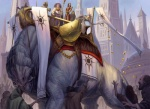 banner city cityscape coin crowd dais dan_scott feral group human magic_the_gathering male mammal money monster official_art outside quadruped thrull  Rating: Safe Score: 4 User: Circeus Date: April 19, 2016